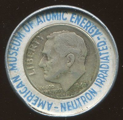 American Museum of Atomic Energy  Neutron Irradiated 1946 Roosevelt Dime 10C