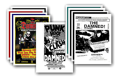 THE DAMNED  - 10 promotional posters - collectable postcard set # 2