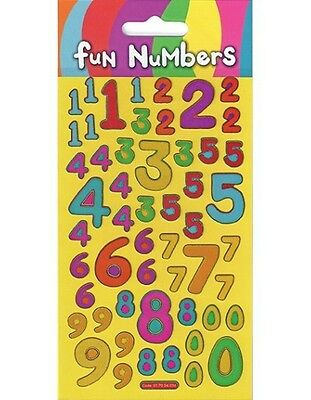 Fun Numbers Stickers - 0 - 9 Learn to Count!