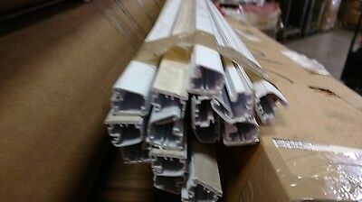 """White computer Wire duct 3/4"""" x 3/4"""" plastic self adhesive 6' long 12 pieces"""