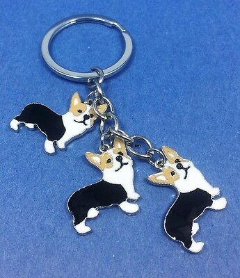 Corgi Lovers Key Chain or Purse Charm 3 Corgi Dogs