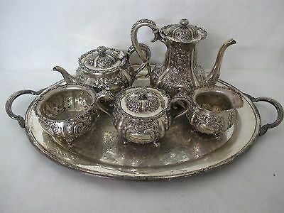Gorgeous C. 1880's International T.c. Tanke Sterling Repousse Tea Set