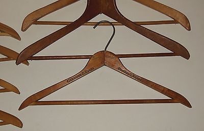 Lot of 7 Wooden Vintage Coat Clothes Hangers Standard Size