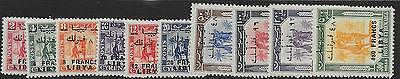 Libya Sg166/75 1951 Overprint Set On Cyrenaica Use In Fezzan Mtd Mint