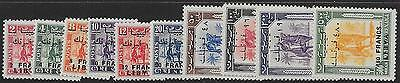 Libya Sg166/75 1951 Overprint Set On Cyrenaica Use In Fezzan Mnh
