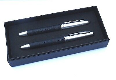 "Mens TOUCH SCREEN Pens Set-Dark Navy CROC ""Roller Ball&Ballpoint"" in GIFT BOXNEW"