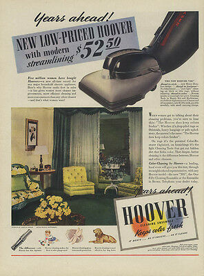 Years ahead! New Low-Priced Hoover Vacuum Cleaner ad 1939 L