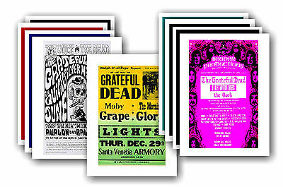GRATEFUL DEAD  - 10 promotional posters - collectable postcard set # 1