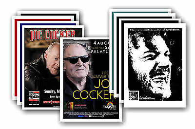 JOE COCKER  - 10 promotional posters - collectable postcard set # 1