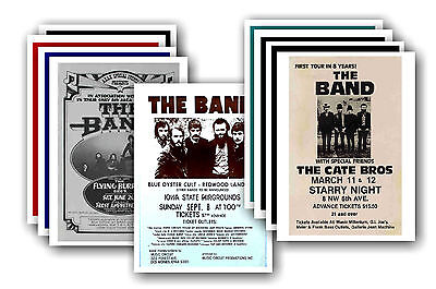 THE BAND  - 10 promotional posters - collectable postcard set # 1