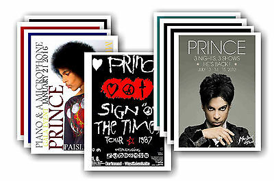 PRINCE  - 10 promotional posters - collectable postcard set # 1