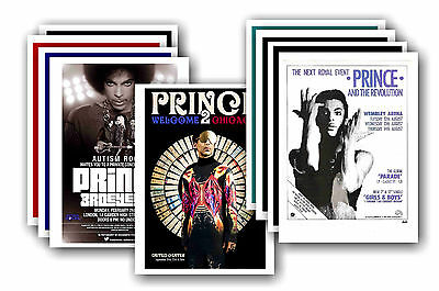PRINCE  - 10 promotional posters - collectable postcard set # 2