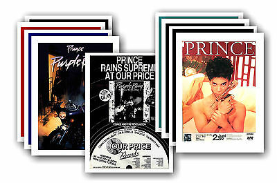 PRINCE  - 10 promotional posters - collectable postcard set # 3