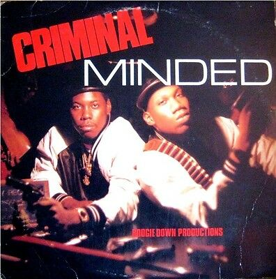 "B.d.p. "" Criminal Minded "" Sealed U.s. Lp Boogie Down Productions Krs One"