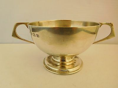 Lovely Antique Solid English Sterling Silver 2 Handled Sugar Bowl