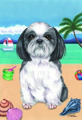 Garden Indoor/Outdoor Summer Flag (TP) - Shih Tzu 690111