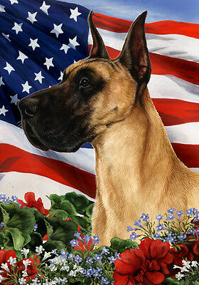 Garden Indoor/Outdoor Patriotic I Flag - Fawn Great Dane 160201