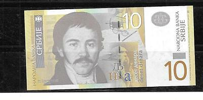 SERBIA 2013 #54b 10 DINARA NEW UNCIRCULATED CURRENCY BANKNOTE  NOTE PAPER MONEY