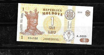 Moldova #8H 2010 Uncirculated Leu New Currency Banknote Bill Note Paper Money