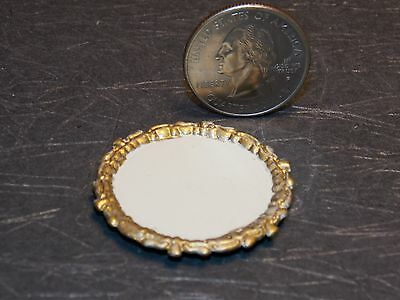 Dollhouse Miniature Metal Silver Serving Tray 1:12 in scale Z041 Dollys Gallery