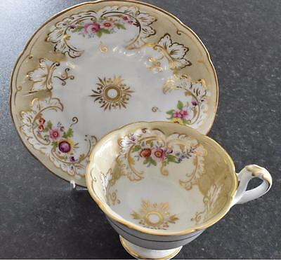"Ridgway ""Savoy"" shape hand-painted cup & saucer, pattern 2/9079 c.1848 (B102)"