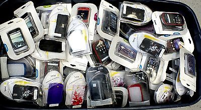 NEW Cell Phone Covers & Cases Huge - Lot of 134 Pieces - Sprint & Blackberry etc