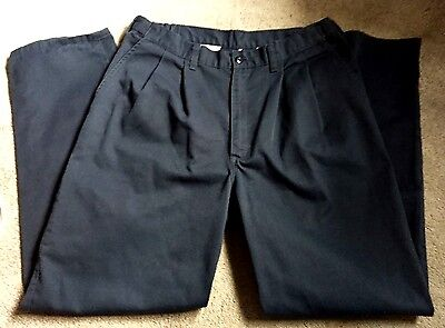 DICKIES MEN'S INDUSTRIAL PLEATED COMFORT WAIST RELAXED FIT PANTS / 34x32