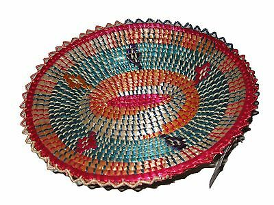 Colorful Handmade Ethiopian Basket : Ethiopia African Decor