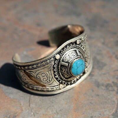 BRACELET (1pc) Turkman Tribal Dance ATS Real TURQUOISE BellyDance 501c5