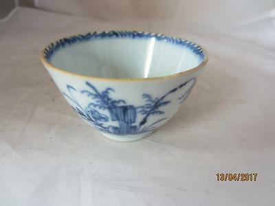18Th Century Chinese Blue Landscape Tea Bowl