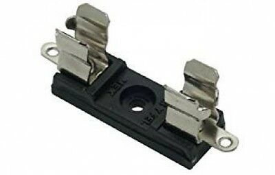 Fuse holder / clip, US AGC  1/4 * 1.25 fuses, for Panel / PCB mount, Pack of 5