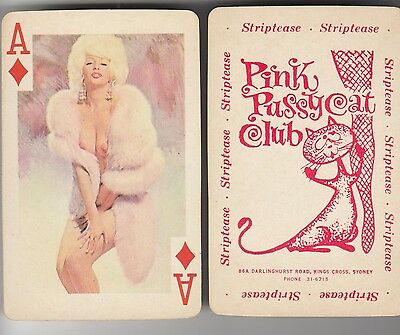 Pink Pussycat strip club Sydney Australia set 54 playing cards Marilyn Monroe