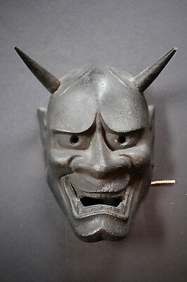 cast iron HANNYA mask Japanese demon Kabuki