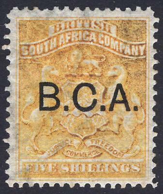 Nyasaland BCA 1891 5s Orange Yellow Arms SG 12 Scott 12 LMM/MLH Cat £100($125)