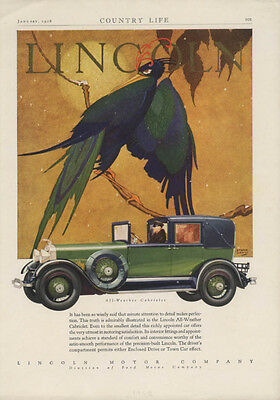 Minute attention makes perfection Lincoln All-Weatehr Cabriolet Town Car ad 1928