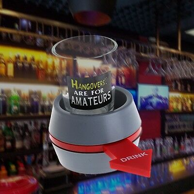 Fun Spinner Spin The Shot Roulette Glass Alcohol Drinking Gift Game Party
