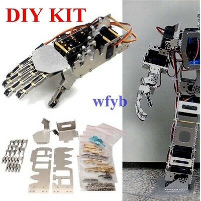 5DOF Humanoid 5 Fingers Manipulator Arm Right Hand + 5pcs Servos DIY For Robot