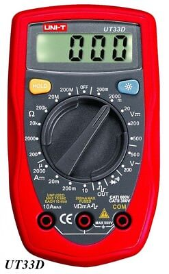 "UNI-T UT33D Digital Multimeter 1,9 ""LCD Palm Größe inkl. Batterie"
