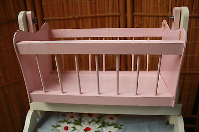 Dolls cradle dolls bed rocking cradle vintage dolls cradle hand crafted wood