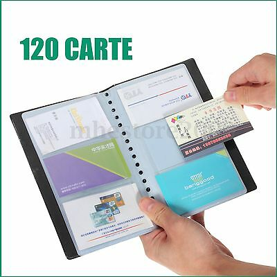 Leather 120 Cards Business Name ID Credit Card Holder Book Case Keeper Organizer
