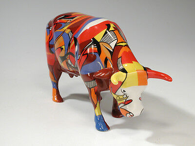 Cow Parade # 7303 PSYCOWDELICOWWOW Porcelain Figurine Psychedelic Artsy Design