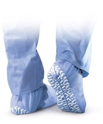 100 DISPOSABLE SHOE COVERS SOCKS NON-SKID MEDICAL BOOTIES HOSPITAL To Size 13