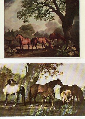 2 ART postcards of HORSES by GEORGE STUBBS