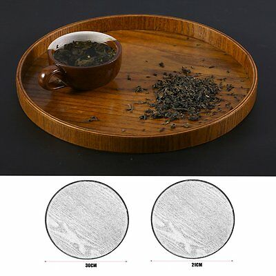 Creativive Tableware Wooden Tea Plate Hand-Made Natural Serving Tray 21/30CM RAU