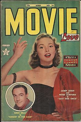 Movie Love #14 Famous Funnies Comic 1952 FN- Janet Leigh Cover