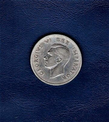 1937 South Africa, 2 Shilling .800 silver coin at E.F.