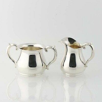 Creamer & Sugar Bowl Set Tea Coffee Sterling Silver International Silver C2113