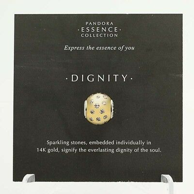 *BEAD NOT INCLUDED* New Pandora Essence Collection Dignity 19 Info Stock Cards