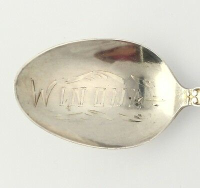 Winona Minnesota Souvenir Spoon - Sterling Silver Vintage Collector's State Seal
