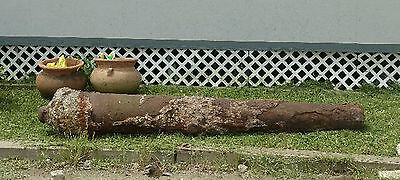 Pair of Original Antique Spanish Shipwreck Cannons 9' long Amazing